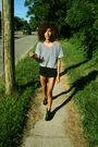 Blue-american-apparel-top-black-american-apparel-shorts-black-lauren-moffat-