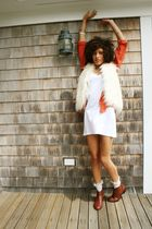 orange Anna and Frank blouse - brown marias chelsea shoes - white American Appar