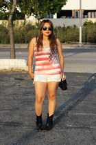 Wet Seal boots - Mango bag - Forever 21 shorts - Target sunglasses - Forever 21