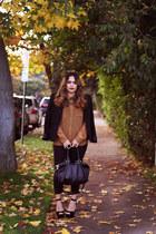 Steve Madden shoes - H&M leggings - Zara blazer - H&M bag - Forever 21 blouse