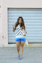cotton on blouse - Forever 21 purse - H&M shorts - H&M flats