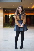 cotton on skirt - Target shoes - Target tights - Zara bag - Forever 21 blouse