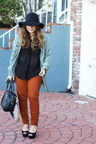 Steve Madden shoes - H&M hat - cotton on jacket - H&M bag - cotton on blouse