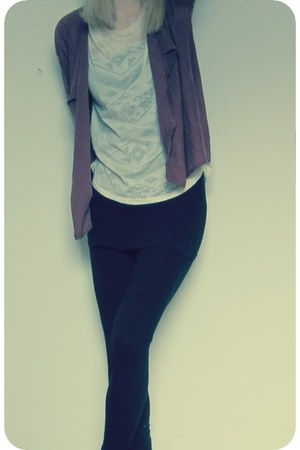 H&M leggings - Mango top - Promod cardigan
