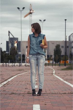 BLANCO shirt - Bershka jeans - BLANCO bag - Zara heels