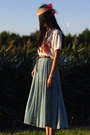 Thrifted-scarf-pleated-skirt-thrifted-jones-new-york-skirt-keds-sneakers