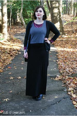 black Zigi Soho boots - black Target dress - black Cambridge Satchel co bag