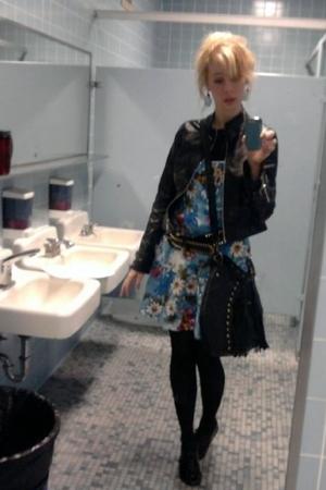 Forever21 dress - Forever21 jacket - Forever21 purse - Forever21 belt - Forever