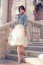 Sky-blue-denim-forever-21-shirt-cream-tulle-shabby-apple-skirt