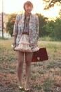 Pink-florals-vintage-blazer-tawny-leather-asos-bag-puce-block-heel-river-isl