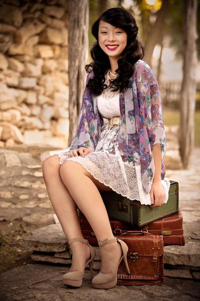 amethyst florals Topshop blouse - white lace Topshop dress