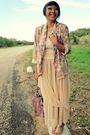 Beige-american-apparel-skirt-beige-vintage-blazer