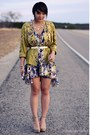 Blue-floral-asos-dress-olive-green-satin-vintage-jacket-beige-platform-forev