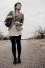 Gray-vintage-blazer-gray-f21-shirt-silver-urban-outfitters-skirt-black-mod