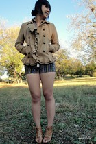 beige Urban Outfitters blazer - blue Forever 21 shorts