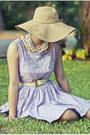 Floral-diy-dress-tan-derby-forever-21-hat