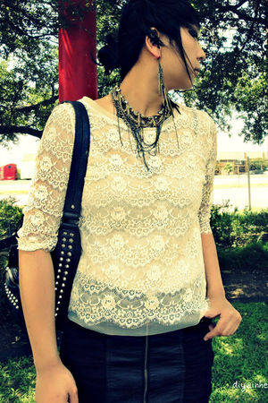 white Charlotte Russe blouse