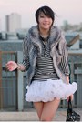 White-tutu-american-apparel-skirt-ivory-striped-forever-21-blouse-black-sequ