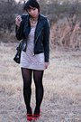 Black-forever-21-jacket-beige-forever-21-dress