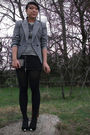 Gray-vintage-blazer-gray-f21-top-black-f21-necklace-black-the-dress-shop-e