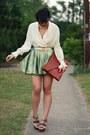 Brick-red-leather-asos-bag-green-brocade-diy-skirt