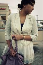 white f21 blazer