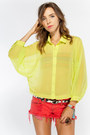 Lemon Cotton Candy Blouses