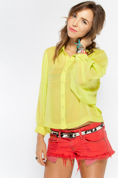 lemon Cotton  Candy blouse