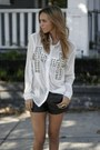 Faux-leather-f21-shorts-studded-reverse-blouse