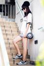 Black-kate-spade-bag-black-american-apparel-skirt-white-uniqlo-t-shirt