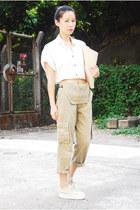 beige Oroton bag - tan Superga sneakers - camel vintage Ezzentric Topz romper