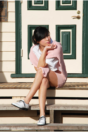 white American Apparel shoes - white American Apparel shirt
