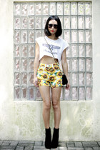 Dolce Vita boots - American Apparel shorts - cotton on t-shirt