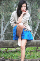 American Apparel skirt - American Apparel hoodie - American Apparel flats