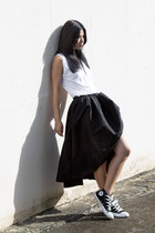 white cotton on top - black Ezzentric Topz skirt - black Converse sneakers