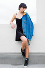 Black-american-apparel-dress-blue-vintage-ezzentric-topz-jacket