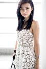 Black-zara-boots-white-self-portrait-dress