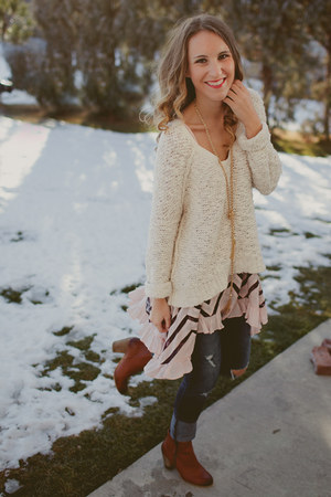 free people sweater - Nordstrom boots - free people top