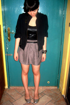 This Fashion jacket - FCUK top - Giordano Concepts belt - Topshop skirt - cotton