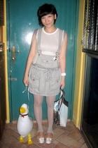 Fourskin t-shirt - sass & bide skirt - Hansel belt - This Fashion tights - from