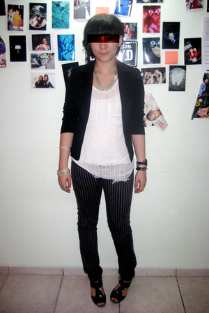 g2000 blazer - This Fashion t-shirt - H&M pants - from Hong Kong shoes