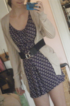 dress - belt - sweater