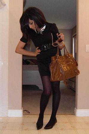black Mexx skirt - black Mexx scarf - black Forever 21 blouse - black Zara blaze