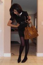 black Mexx skirt - black Mexx scarf - black Forever 21 blouse - black Zara blaze
