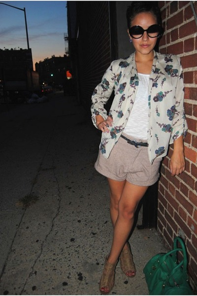 deep purple floral shaul Forever 21 cardigan