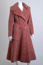 Red Princess Wool Vintage Coats