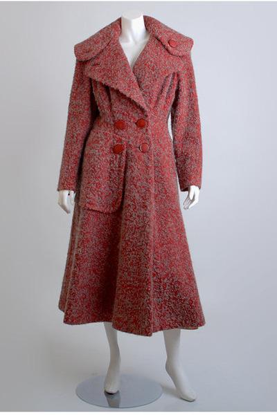 red princess wool vintage coat
