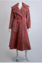 Red-princess-wool-vintage-coat
