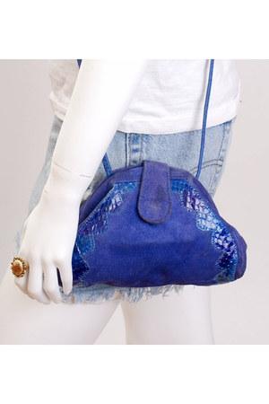 purple vintage bag
