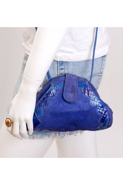purple vintage bag